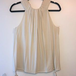 St. John White Sleeveless Top